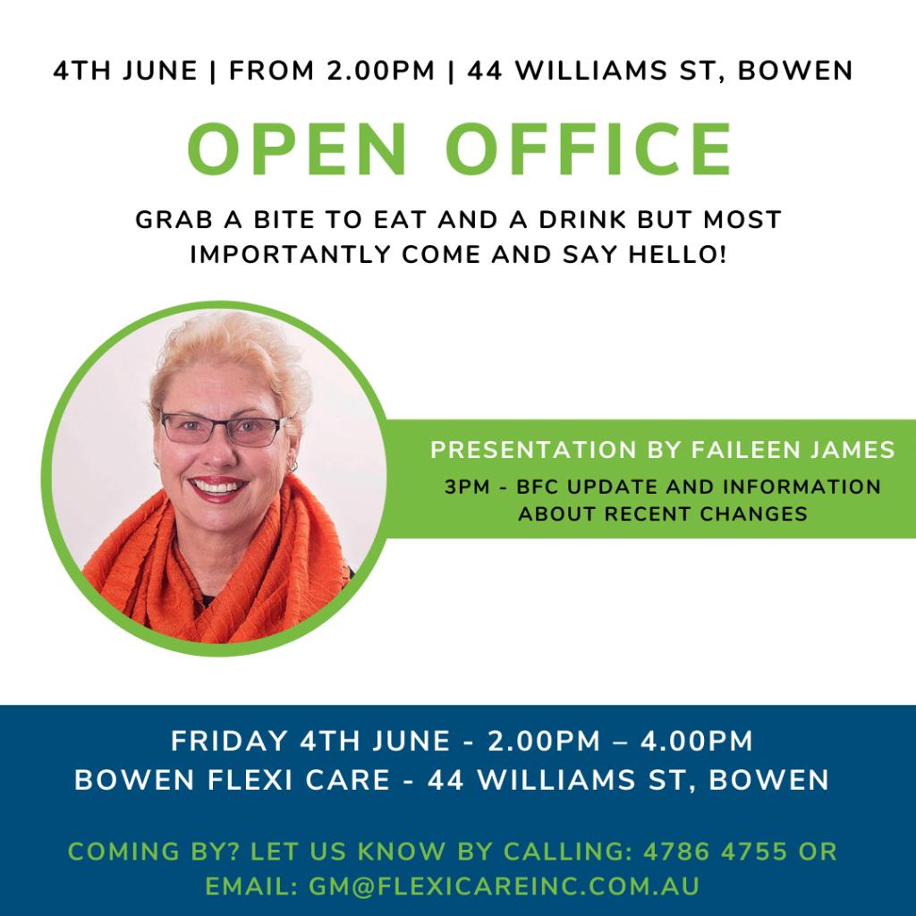 Open Office Invitation for 4 June 2021