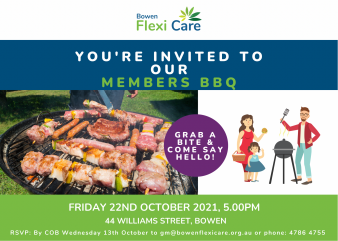 Members BBQ invite October